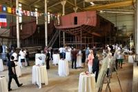 Bodrum'da yapımı süren iki yelkenli yat için kaynak töreni düzenlendi