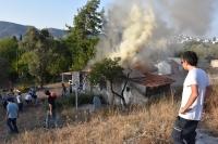 Bodrum'da ev yangını: BÜYÜK HASAR