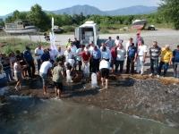 Köyceğiz Gölü'ne 180 bin yavru sazan bırakıldı