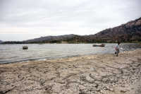 Kuraklık ve kirlilik Bafa Gölü'nü köpürttü