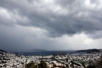 Bodrum'da kuvvetli rüzgar ve yağış etkili oldu