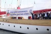 GAZİ'NİN İZİNDEKİ STS BODRUM'A İZMİR'DE MUHTEŞEM UĞURLAMA