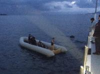 Türk kara sularına dönmeye zorlanan 8 sığınmacı kurtarıldı