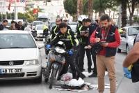 Beton mikseri ile çarpışan motosikletin sürücüsü kadın öldü