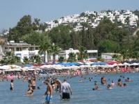 Bodrum sahillerinde bayram tatili yoğunluğu