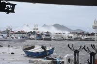 Bodrum'da sağanak  ve fırtına etkili oluyor