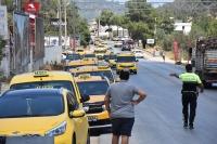Bodrum'da taksicilerden