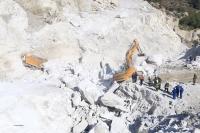 Maden sahasında heyelan