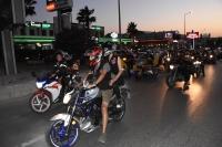 Motosikletliler çocuk istismarına tepki gösterdi