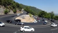 Bayram dönüşü Muğla'da trafik yoğunluğu
