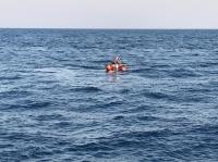 Göçmenleri taşıyan lastik bot battı