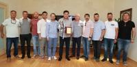 Yalıkavakspor yöneticilerinden  Başkan Mehmet Kocadon'a ziyaret