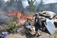 Ortakent'te yangın
