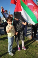 İsrail'in Filistinlilere yönelik saldırıları protesto edildi