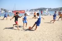 Bodrum'da plaj futbolu şenliği