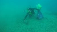 Deniz dibi temizliği Gümüşlük'te devam etti