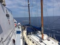 Yelkenli teknedeki 75 sığınmacı karaya çıkarıldı