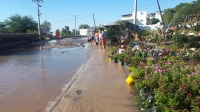 Ortakent'te İçme suyu isale hattında patlama