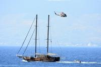 Akyarlar'da göçmenleri taşıyan tekne battı
