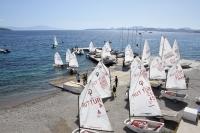 Deniz hasreti sona eren yelkenciler, su yüzeyindeki antrenmanlara başladı