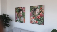 Bodrum'da ressam Pınar Kalem'in 32'inci kişisel sergisi açıldı