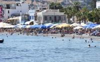 Bodrum sahillerinde tatilin son gününde de yoğunluk yaşandı