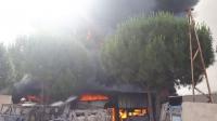 Yangın anı cep telefonu kamerasınca görüntülendi