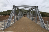 Kamyonun yıktığı 99  yıllık köprü restore edildi