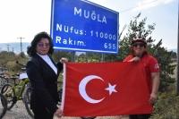Kadın bisikletçiler Muğla'ya ulaştı