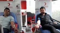 Telekom ve Aydem çalışanlarından Mehmetçik için kan bağışı
