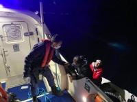 Türk kara sularına geri itilen 36 sığınmacı kurtarıldı