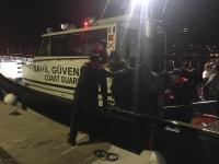 11 göçmen, sahil güvenlik ekiplerince kurtarıldı