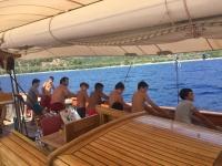 STS Bodrum Okul Gemisi  deniz izcilerinin kampı oldu