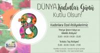 8 MART'TA KADINLAR OASİS'TE!