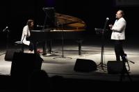 Piyanist Anjelika Akbar ile opera sanatçısı Hakan Aysev Bodrum'da konser verdi