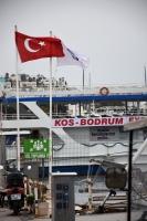 Bodrum'da saatte hız 70 kilometre