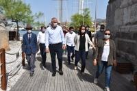 Kültür ve Turizm Bakanı  Bodrum Kalesi'nde incelemelerde bulundu: