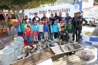 Gündoğan'da deniz dibi temizliği