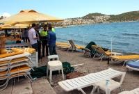 Düzensiz göçmenleri taşıyan tekne alabora oldu: 1 ölü