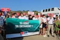Ortakent Kabakum'da  özelleştirmeye karşı eylem
