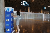 Havalimanında Bodrum tanıtım stantları