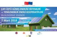 Yenilenebilir enerji konulu  SEMİNER DÜZENLENİYOR