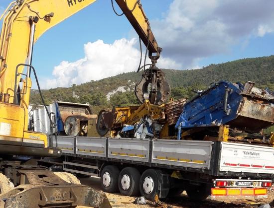 Bodrum'un metal çöpü MKEK'e gidiyor