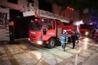 Bodrum'da dernek binasında çıkan yangın söndürüldü