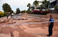 Ortakent'te içme suyu isale hattında yine  patlama